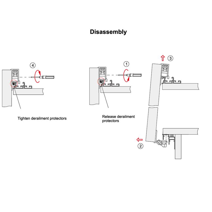 sliding wardrobe lock fitting