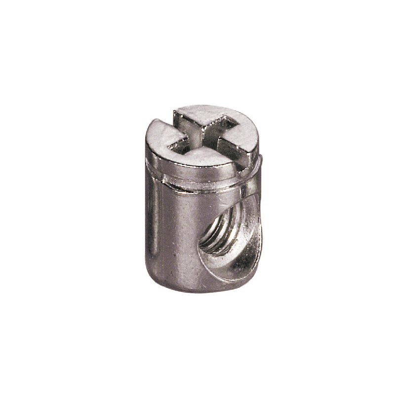 Zinc alloy Φ10mm M6 Cross dowel Cylindrical nut furniture bolts and nuts