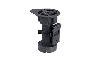 Furniture fittings ABS Black adjustable cabinet legs cabinet leveling feet