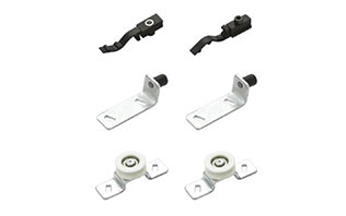 Furniture fittings sliding barn door rail kit barn door bottom roller